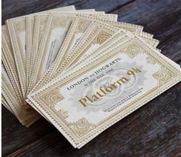 Mundo de los juguetes online-Mundial de tren de Harry Potter Hogwarts Londres expreso del boleto de tren expreso de Hogwarts entradas ornamento papel Juguetes para los aficionados para niños