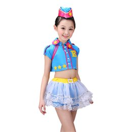 Wholesale Jazz Kids Clothes - modern kids jazz dance costumes for girls salsa stage costumes for kids stage clothing dancewear girls kids stage wear boy
