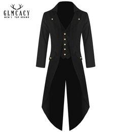 плюс размер стимпанк костюмы Скидка Плюс размер 5XL мужская средневековая куртка пиратский костюм фрак Ренессанс стимпанк готический Викинг Викторианский смокинг сюртуки