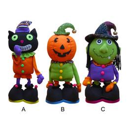brinquedos zumbis para crianças Desconto Halloween Laranja Abóbora Zombie Telescópica Plush Doll Toy Party Decoração Do Partido Grito De Pelúcia Macia Para As Crianças Presente