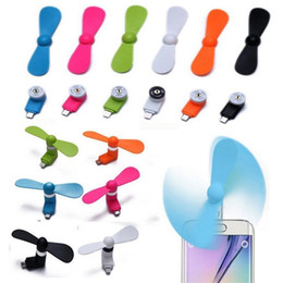 Wholesale mobile holidays - Portable USB Mobile Phone Fan Mini Micor Small Electric Fans For Android Cooling Tools Creative Party Favor Gift 2 6sm3 YY