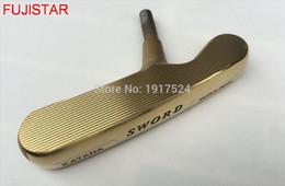 ferrulhos de madeira Desconto O taco de golfe FUJISTAR GOLF KATANA SWORD pode tanto para a direita como para a esquerda 410 +/- 5gms putter head