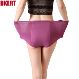 plus size seamless panties Coupons - DKERT Menstrual Period Panties Women Underwear Panties Ladies Seamless Plus Size Physiological Leakproof Female Underwear Briefs