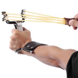 estilingue de aço Desconto Frete Grátis Aço Inoxidável Poderoso Slingshot Catapult Caça Equipamento Ao Ar Livre Sling Shot