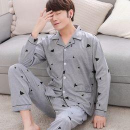 New 100% cotton casual pajamas sets mens Clothing simple sleepwear for male  pyjamas pijama de hombre men home wear plus 3XL a0d8dc67b