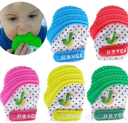 Canada Silicone comestible Fasion bébé jouets de dentition en silicone naturel mitaines sensorielles nouveau-né dentition nouveau-né maman enfants jouet de dentition Offre