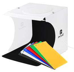 Wholesale 2018 Vendita calda Mini Photo Studio Box Fotografia Sfondo Built in Light Photo Box Piccoli oggetti Fotografia Box Studio Accessori