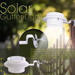 clôture solaire gouttière led Promotion Solaire 3 LED éclairage extérieur lampe clôture gouttière toit cour jardin lumière jardin éclairage extérieur Led lumière solaire