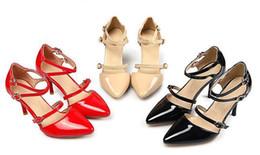 High Heel Beautiful Sandals Primavera Estate Nuovo modello in pelle  verniciata 30-48 Codice donne rosso nero Scarpe nude prezzo a sorpresa  sconti prezzo dei ... 7735a4b0eef
