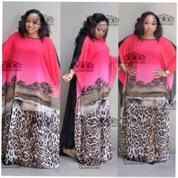 Canada 2018 (L-XXXL) Nouvelle mode en mousseline de soie super taille africaine lâche longue robe traditionnelle dashiki pour dame Offre