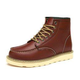 Весна и осень новый Мартин сапоги британский досуг мода высокая-топ обувь из натуральной кожи рабочие ботинки зима от