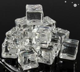 Wholesale Acrylic Decorative - ecoration cube 50pcs lot (Size 20 25 30mm) Wedding Party Display Artificial Acrylic Ice Cubes Crystal Clear Decoration decorative decorat...