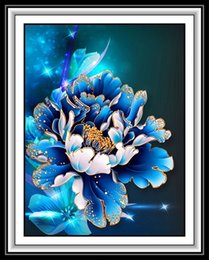 Wholesale Painting Small Rooms - 5d DIY Diamond Painting Living Room Small Modern European Cross-stitch New Peony Hanging Wall Decoration Painting