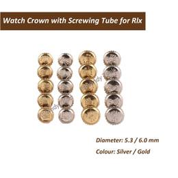 Orologio rlx online-Corona per orologio Rlx in acciaio inossidabile e oro con parti di orologio per avvitatori