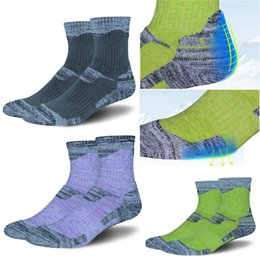 Wholesale high performance camp - Multi Performance Socks For Running Hiking Skiing Climbing Socks Moisture-Wicking High Towel Socks for Women & Men Free DHL G492Q