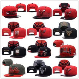 Wholesale cycling baseball hats - wholesale Newest CHICAGO Adjustable BULLS Snapback Hat Best Cheap Letters Adults Sports Baseball Caps Cotton Active Sun hats for Men Women