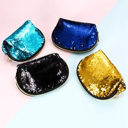 Wholesale clutches for wedding - Sequin Handbags Women Portable Travel Cosmetic Bag Makeup Case Mermaid Sequins Evening Bag For Girls Wedding Clutch Bag 4 Colors OOA4647
