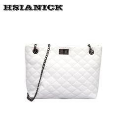 cefcc66da7 2019 grandi borse bianche Grande borsa femminile 2018 estate nuovo design  moda versione Messenger bag croce