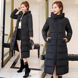 Vender chaqueta coreana online-Las mujeres populares nueva venta directa Full New Korean Long Lady's abrigo engrosada chaqueta acolchada Winter Down Parka Women Jacket