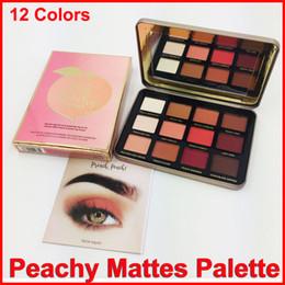 Wholesale Velvet Satin - New Makeup Faced Just Peachy Mattes Eyeshadow Palette 12 Colors Eyeshadow velvet matte eye shadow palette DHL free shipping