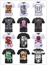 Wholesale Skull Shirts Mens - Skull Print New Fashion Hip Hop Men's O-neck T-shirts Short Sleeve Summer Mens Tshirt Male Running Tops Tees M-3XL