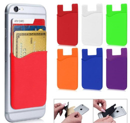 Argentina Cartera de silicona Tarjeta de crédito Dinero en efectivo Etiqueta de bolsillo Adhesivo Titular de la bolsa Teléfono móvil 3M Gadget iphone Samsung Suministro