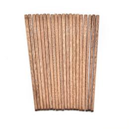 Wholesale pcs value - 5 Pairs 25cm Eco-friendly Value chinese Natural Wood Chopsticks tableware Set 10 pcs