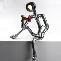 Canada Robot Lumière Moderne Industrielle Tuyau Lumineux Led Lampe de Bureau Vintage Steampunk Café Bar Boutique Loft Style supplier vintage industrial desk lamps Offre