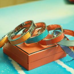 Wholesale H Buckle Bracelet - fashion 12mm Luxury Cuff H Bracelets Bangles for women Classic Enamel Bracelet Letter Buckle Wristband fashion lovers jewelry silver h bangl