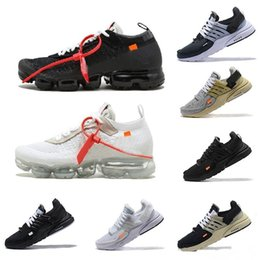 Calza francia per le donne online-New 2018 Men Running Shoe Studio off Mid 1 max vapormax off white parra france Chicago basket per donna Sneakers Force one Presto 2.0 1 87 Nero bianco Sneakers huarache