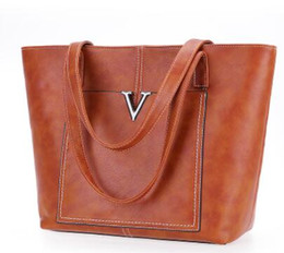 Wholesale Bulk Ladies - Free Shipping 2018 new hot handbags autumn and winter wild large simple simple bulk Tote bag ladies handbag shoulder bag