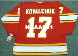 Mens  17 ILYA KOVALCHUK Atlanta Flames 1970 s CCM Vintage Retro Home Hockey  Jersey or custom any name or number retro Jersey 771e249a3