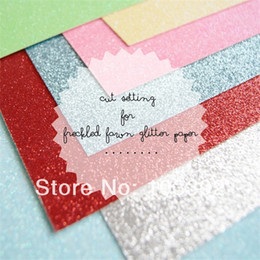 Wholesale Particle Design - American design 40pcs glitter cardstock paper 12 inch 300g colorful glitter paper