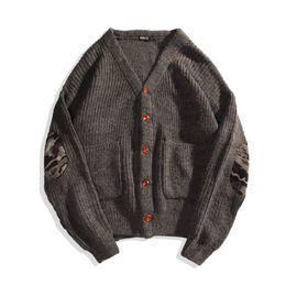 Wholesale Korean Wool Clothes - 2018 spring Harajuku Korean version couple cardigan jacket bf wind loose student sweater men's fashion clothing trend Harlan