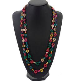 New design multicolor Wood Beaded Handmade String Long Chain Necklaces Women Wooden coconut shell Ethnic Jewelry gift cheap ethnic beaded necklaces от Поставщики этнические бисерные ожерелья