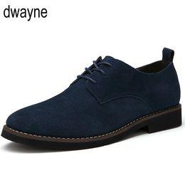 2019 vestir grandes agujeros Zapatos de vestir masculinos zapatos de vestir puntiagudos del negocio formal de los hombres Oficina de cuero de gamuza Retro Oxford tamaño GRANDE guj89