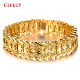 Большой браслет для мужчин золотой онлайн-CIFBUY цвет золото браслеты для мужчин женщин оптовой продажи ювелирных изделий Vintage Горячих моды большого цветок браслеты браслетов 401