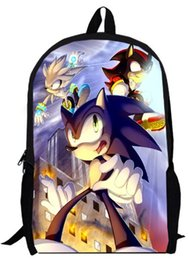 sonic games Promo Codes - Games custom made 15inch sonic Backpack double layer anime Cartoon Super Mario Bros SW boy men School bags