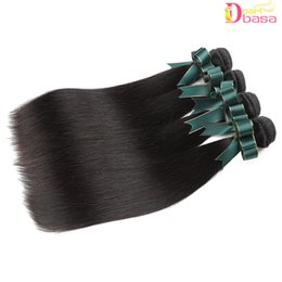 2019 индийские прически для волос Оптовая 8А Реми Человеческих Волос Прямые Пучки 100% Перуанский Малайзии Бразильский Наращивание Волос Человека Бразильские Прямые Волосы Плетет
