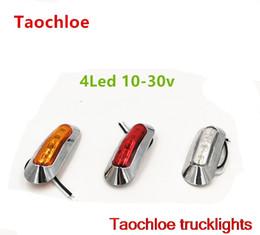 Camion di luci di spazio online-Car Light Assembly 1x 10-30v E4 truck LED Side Marker Clearance Lampada spia luci esterne per rimorchio auto