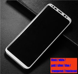 Wholesale White Glass Film - 3D tempered glass Galaxy s9 surface screen protective film For Samsung S9plus note8 protective black and white gold and silver blue