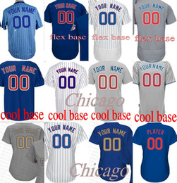Wholesale Base Number - custom any name number baseball JERSEYS Men Women Kids COOL Flex base Baseball Jerseys Chicago Custom Alternate Home Road S-4XL