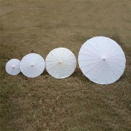 Canada Parasols de mariage Parapluies en papier blanc Parapluie mini-artisanat chinois 4 Diamètre: 20,30,40,60cm Parapluies de mariage Offre