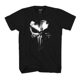 Wholesale Marvel Cartoon Characters - Marvel Punisher Dirty Skull T-shirt New Arrival Male Tees Casual Boy T-Shirt Tops Discounts Cartoon Character Summer 2018 100% Cotton