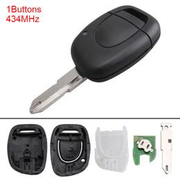 ключ renault clio Скидка 433 МГц, 1 кнопка, без ключа, флип брелок дистанционного управления NE72 Blade PCF7946 Чип для Renault Master Kangoo Clio Twingo KEY_113