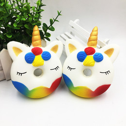toy vent Coupons - Fidget PU Unicorn donuts toys Squishy Slow rebound squishy Simulation Funny Gadget Vent Decompression toy B