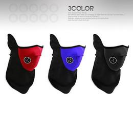Aquecedor de pescoço máscara on-line-Ao ar livre Neck Warmer Máscara Facial Tempo Frio Quente Moto Lã Bicicleta Gelo Cachecol