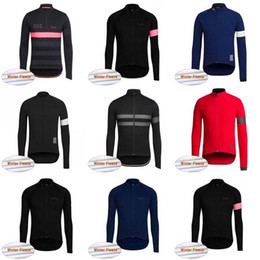 Vestuário térmico para bicicletas on-line-Equipe Rapha ciclismo jersey top Jaqueta de inverno térmica velo desgaste da bicicleta maillot ciclismo bicicleta roupas frete grátis C2021