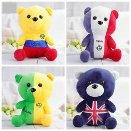 Wholesale souvenirs toys - Russia FIFA World Cup Plush Dolls 21cm Cartoon Bear Toys Alemania Fans Souvenirs Novelty Items OOA5163