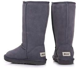 Hiver Chaud WGG Goose Classique Australie Haute Bottes Imperméable En Cuir De Vache Véritable En Cuir Bottes De Neige Bailey Bowknot Chaud Chaussures Pour Les Femmes 15 ? partir de fabricateur